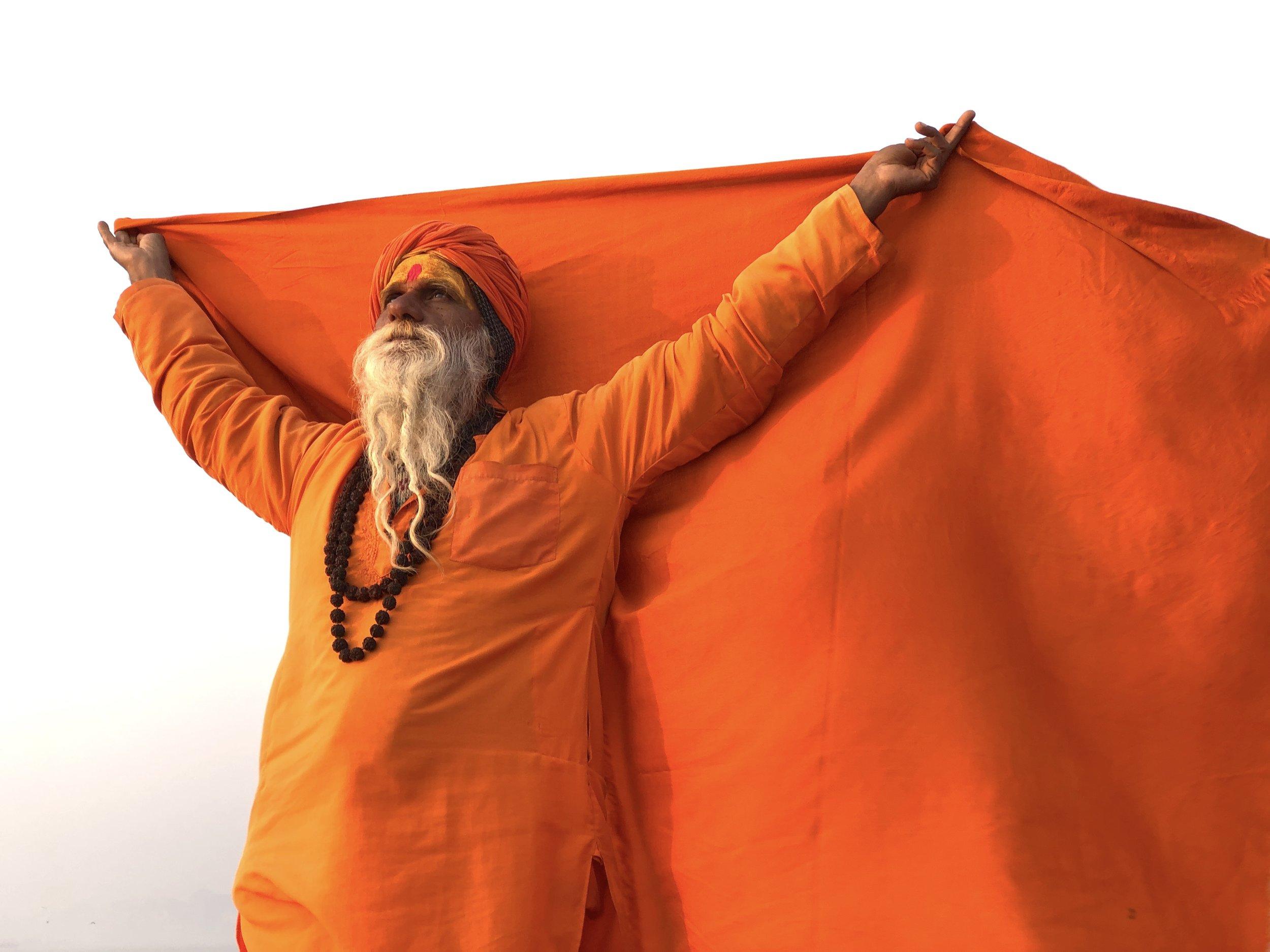 """""""Holy Man"""" Vanarasi, India by Emily Kelting Sadhu"""
