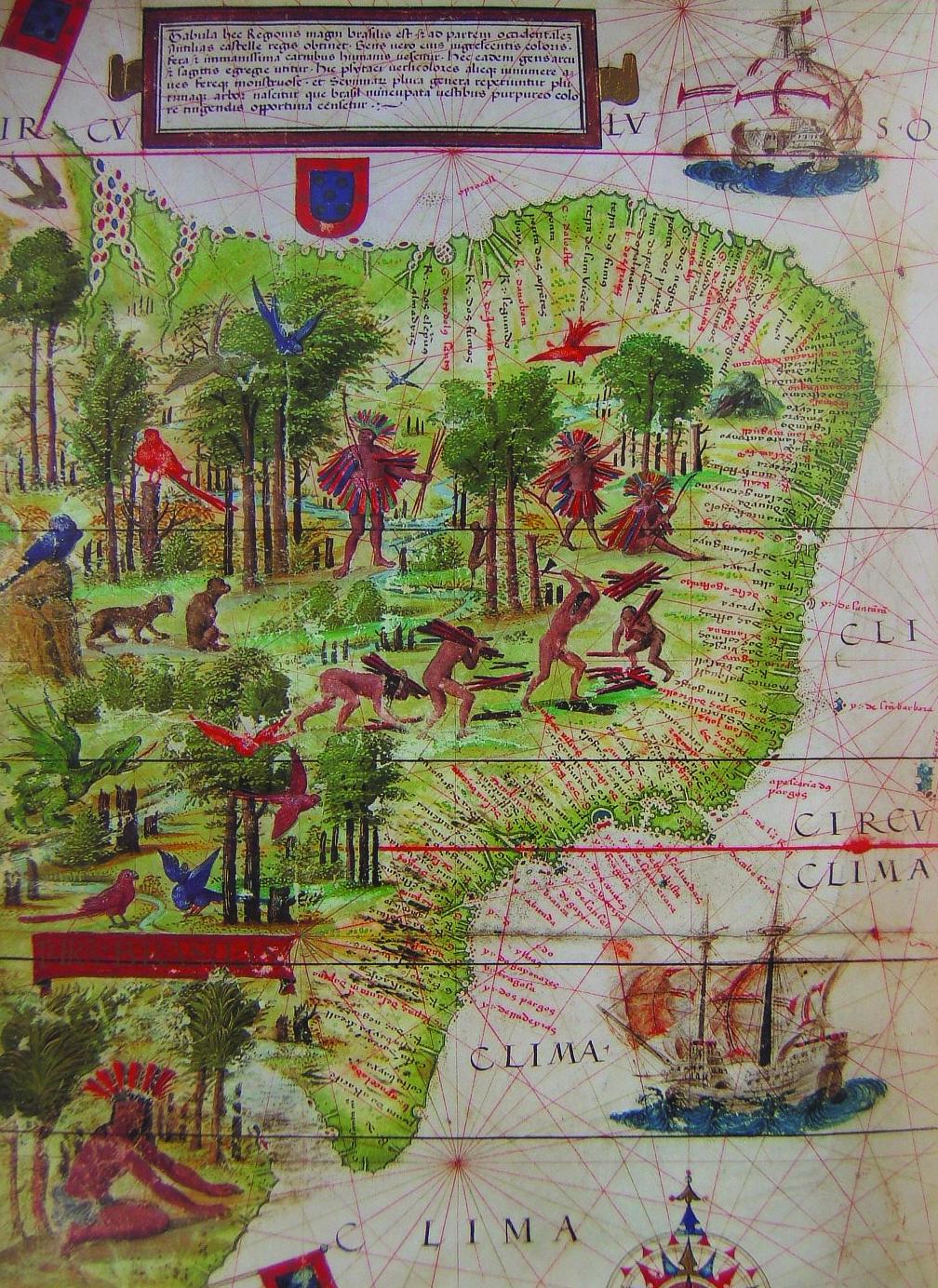 Mapa Terra Brasilis, de 1519.