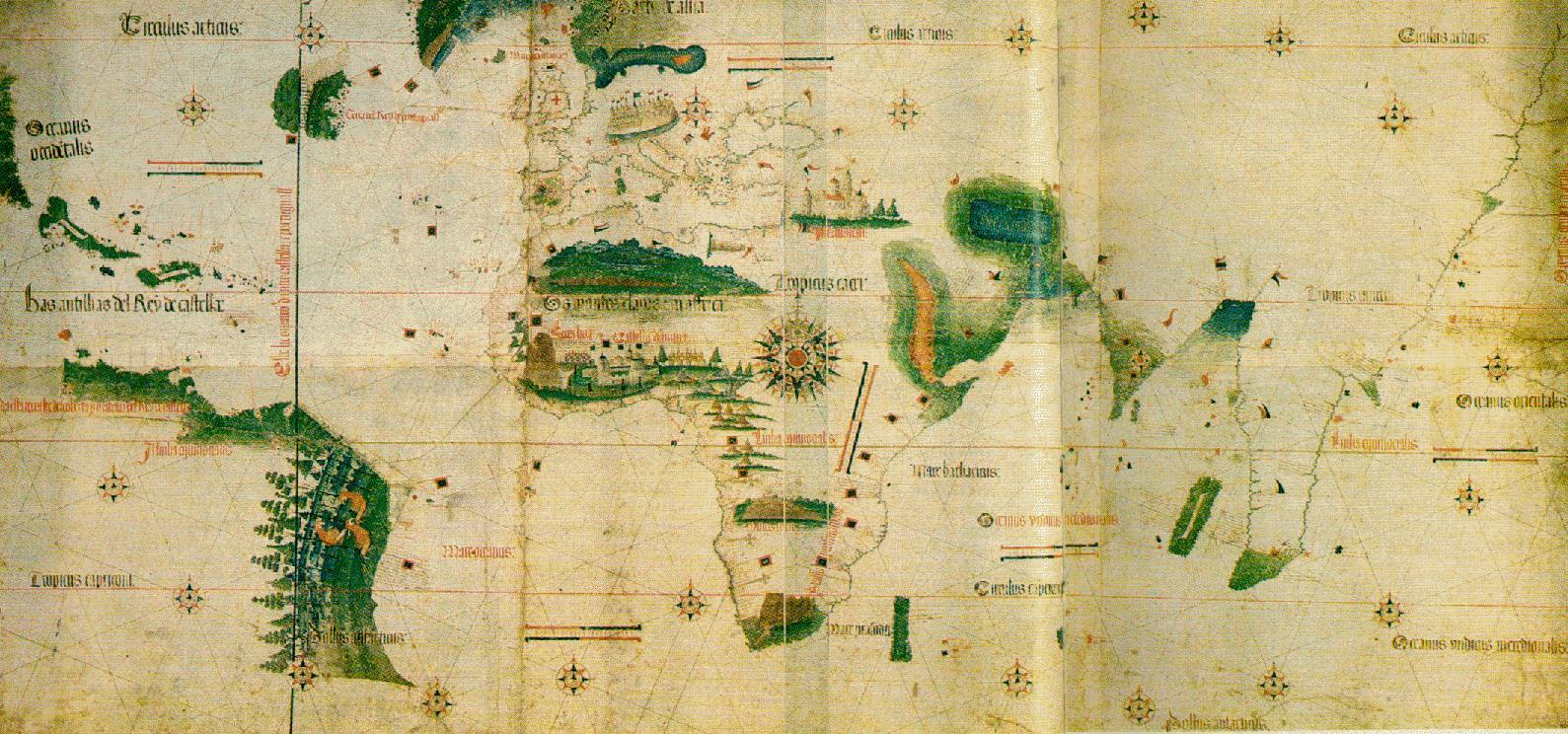 Planisfério de Cantino, de 1502.