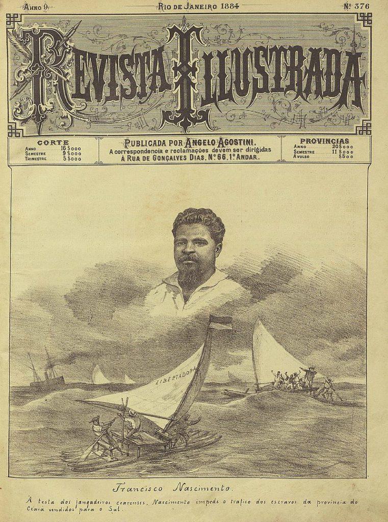 Capa Revista Ilustrada, desenho de Angelo Agostini, 1884.