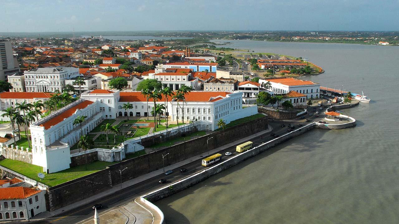 Vista do Forte de São Luís, no Maranhão.