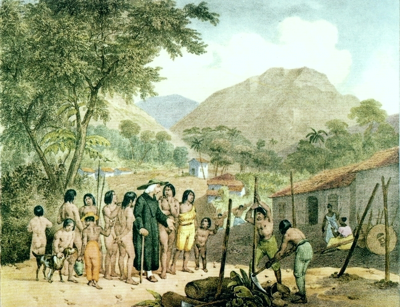 Quadro Aldeia dos Tapuias - Rugendas