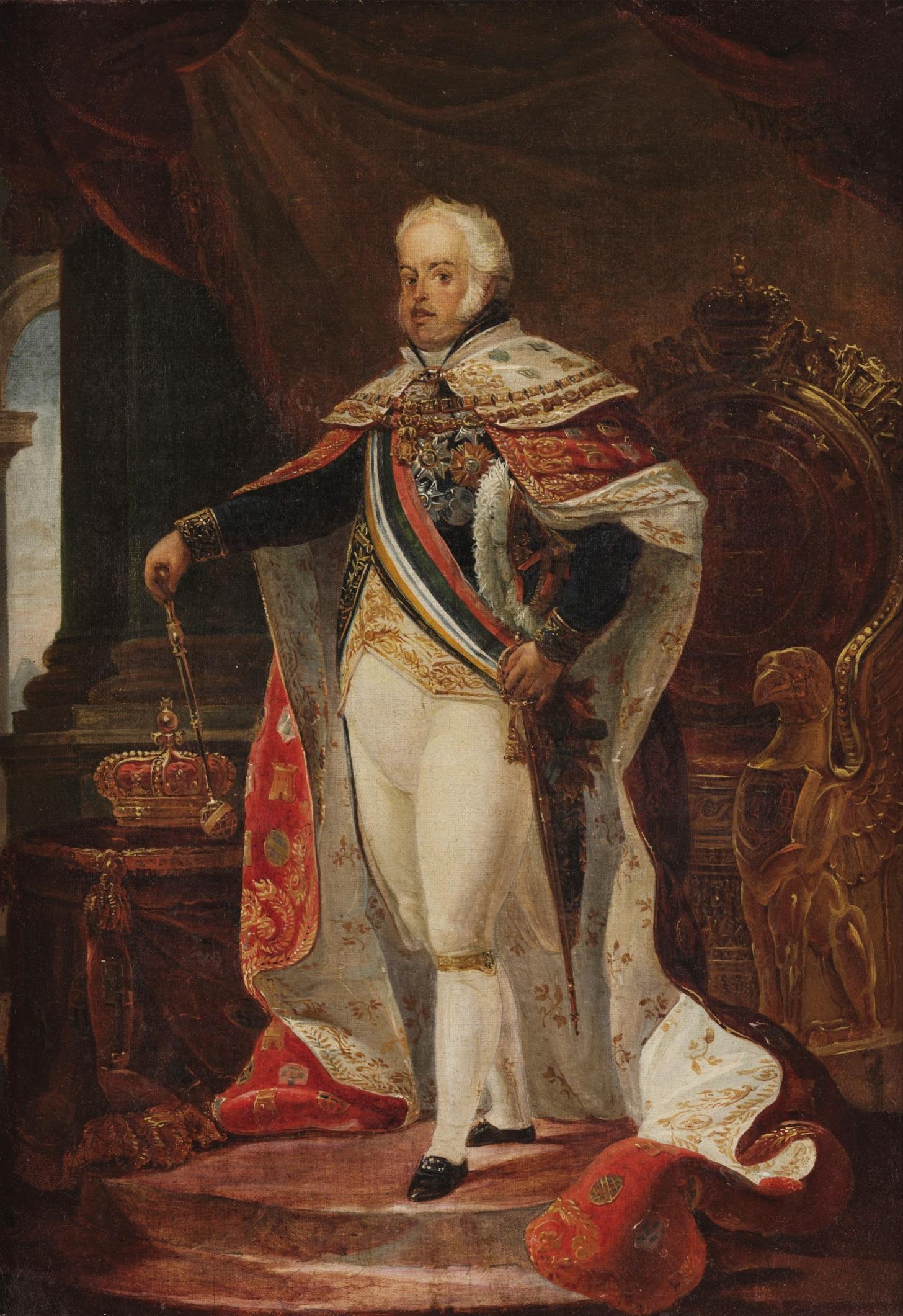 Retrato de Dom João VI, por Jean-Baptiste Debret.