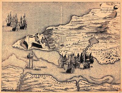 Mapa de Natal produzido pelos holandeses (1633).