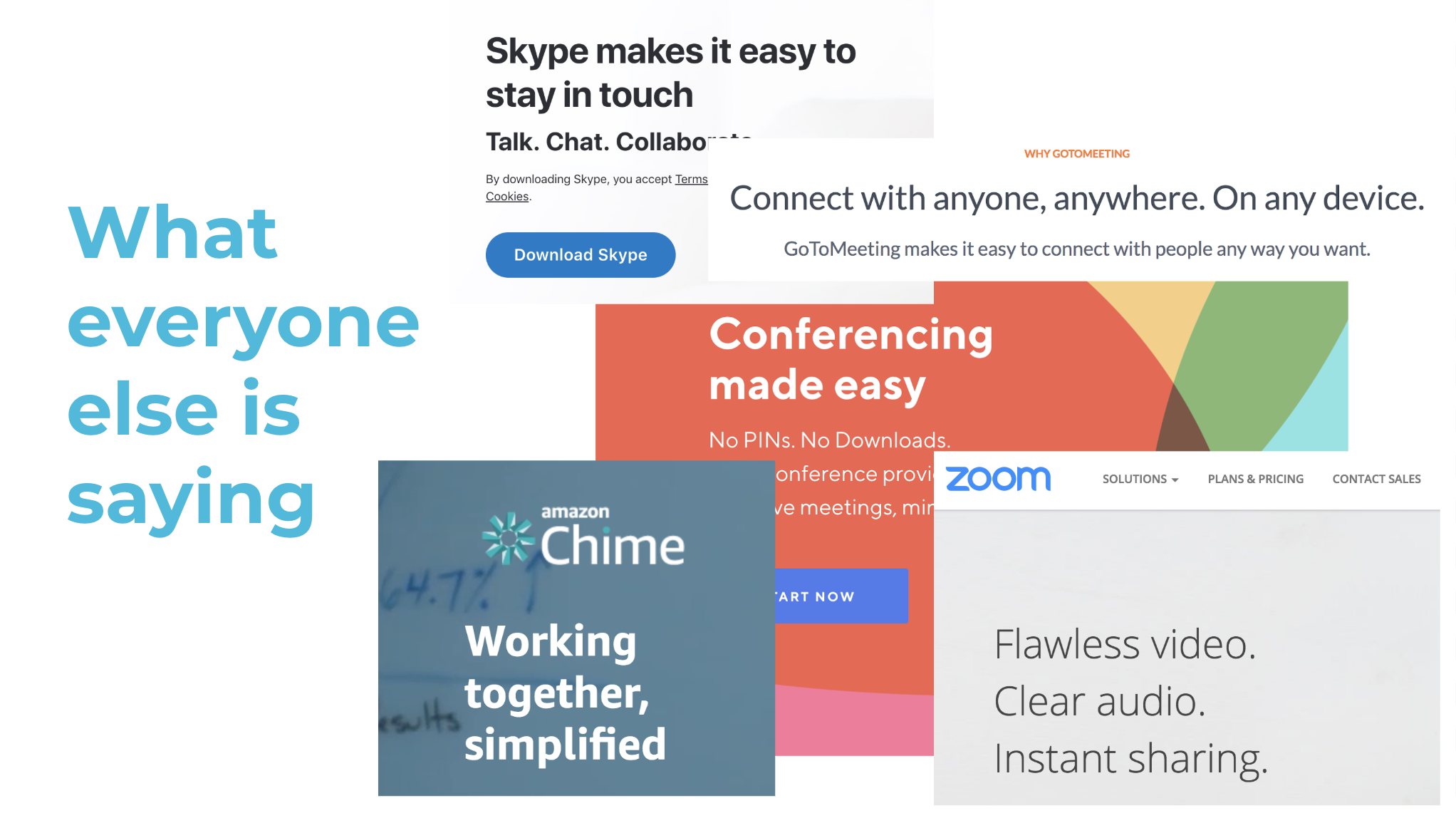 The conference call category consists of monotonous messaging about connection and ease of use. We knew we had to shake things up.