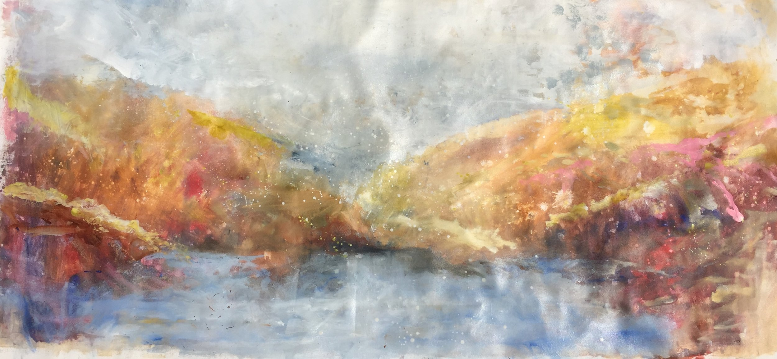 "Irish Spring , 2018 oil on canvas, 24""x56"".  SOLD"