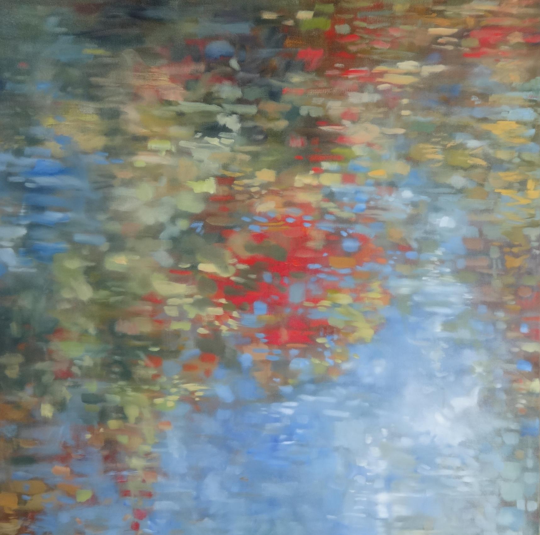 """Shoreline Colour #2,  2016 oil on canvas 40""""x40""""  SOLD"""