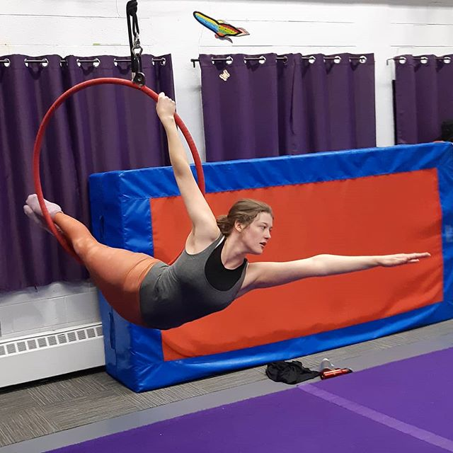 just a bird learning to fly! #paradisaeaaerialdance #lyra #aerialhoop #circus #learningtofly #circusstrong #flyingcrow