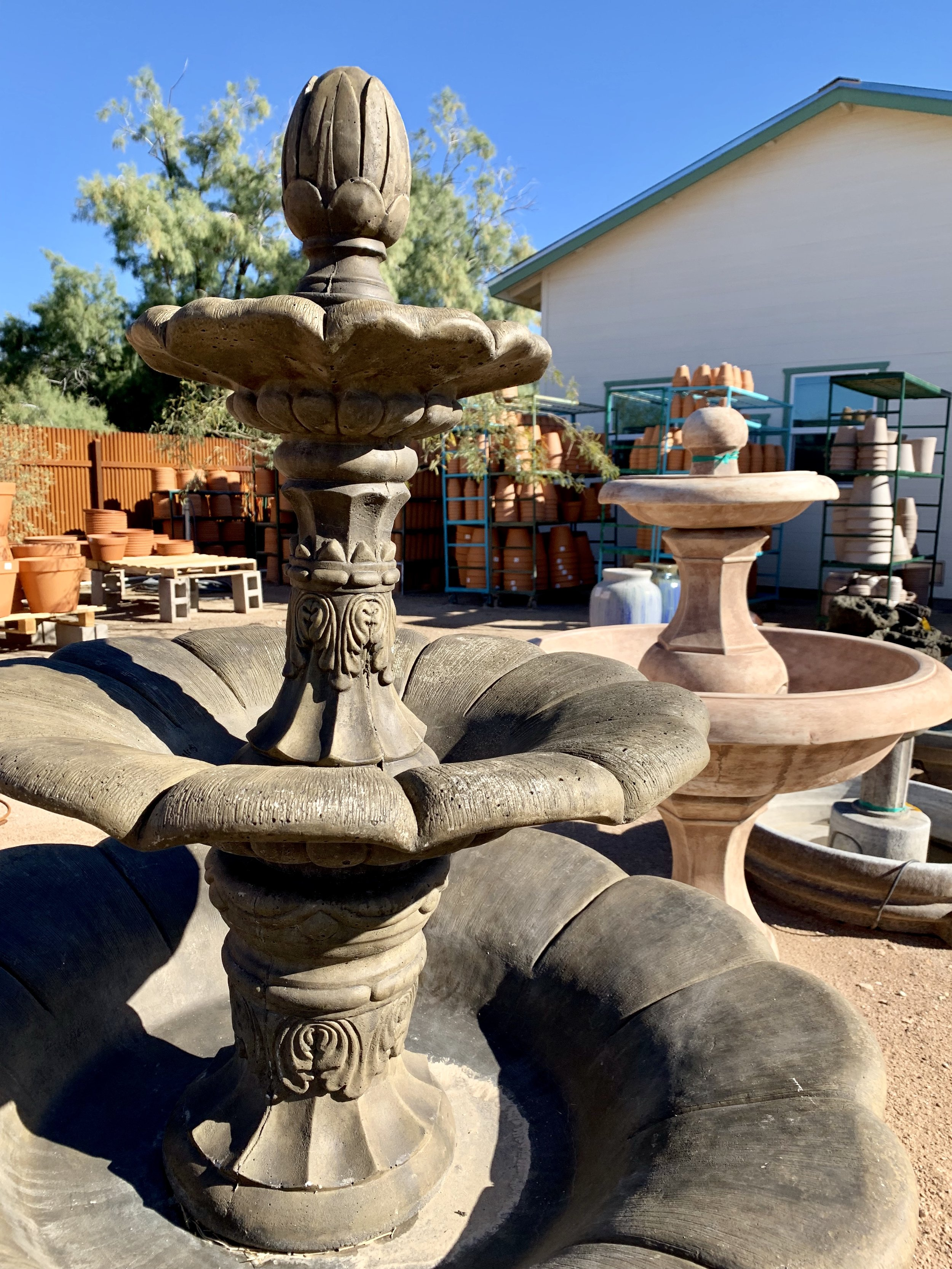 fountains and concrete