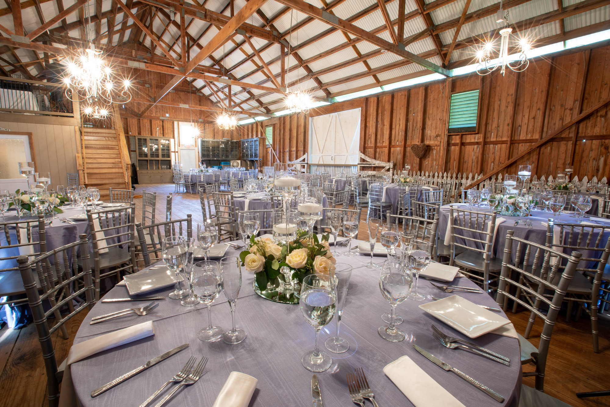 Crown Rose Barn Banquet Table