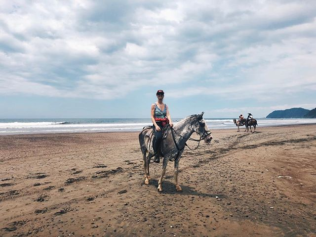 Jaco by horse 🐎🌞🌊#CostaRica