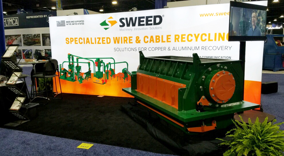 Sweed booth at the 2019 ISRI & Interwire trade shows.