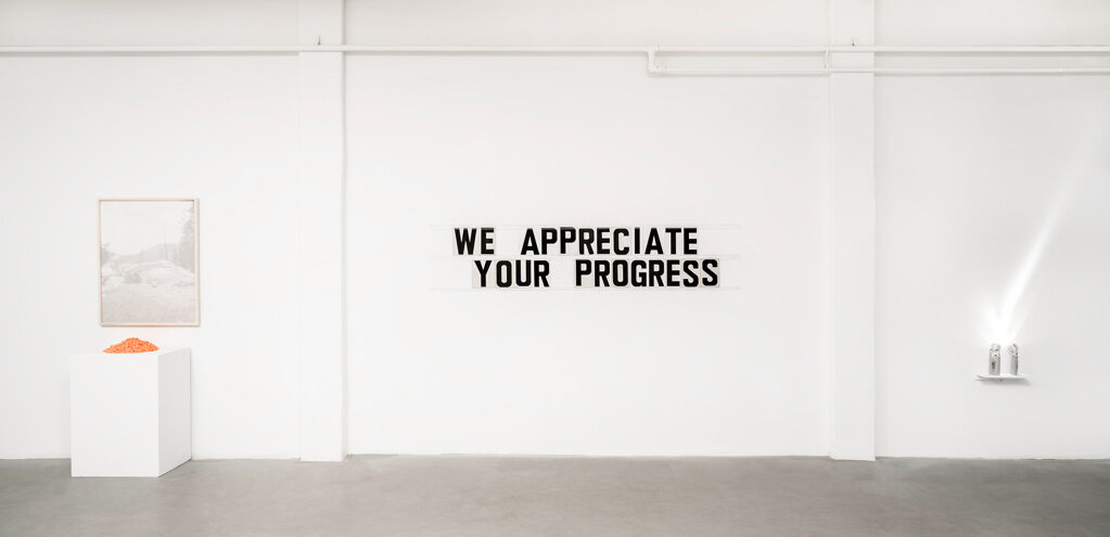 Eugene Ellenberg. We Appreciate Your Progress. 2017. Installation View.
