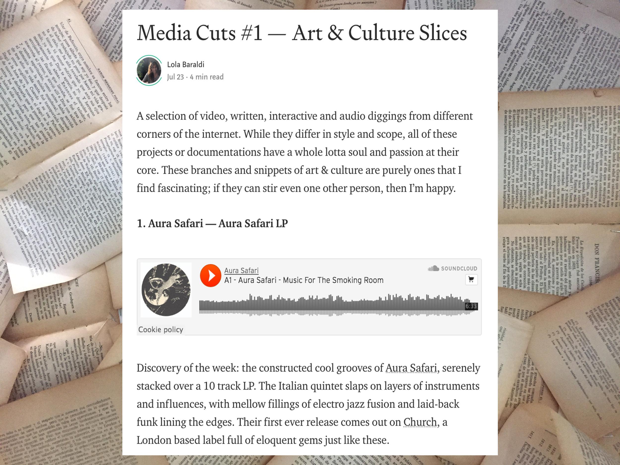 MEDIA CUTS #1