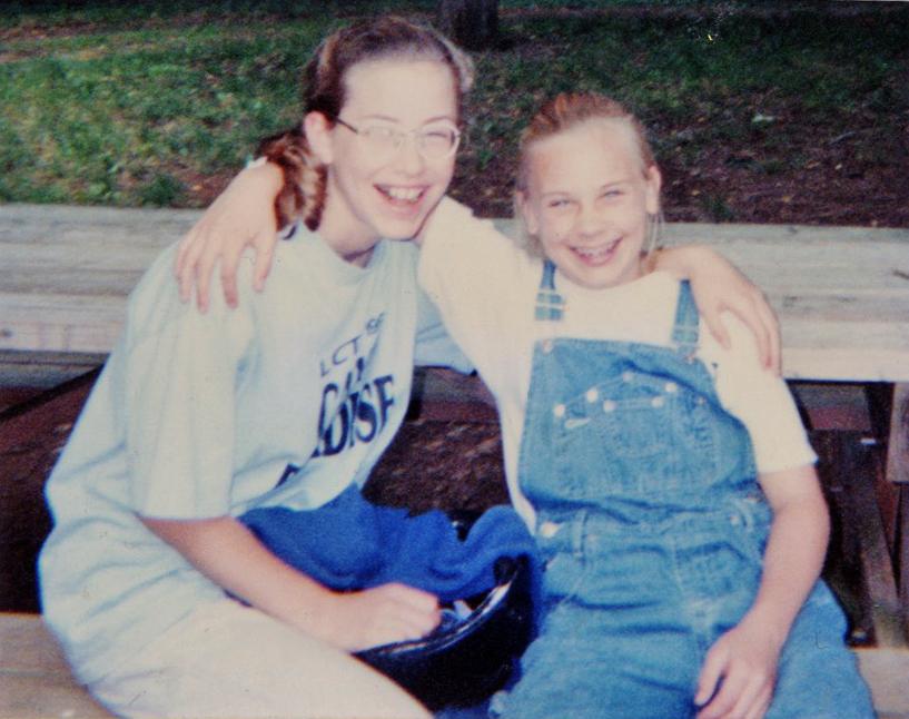Sara and Ellen, probably circa 2000
