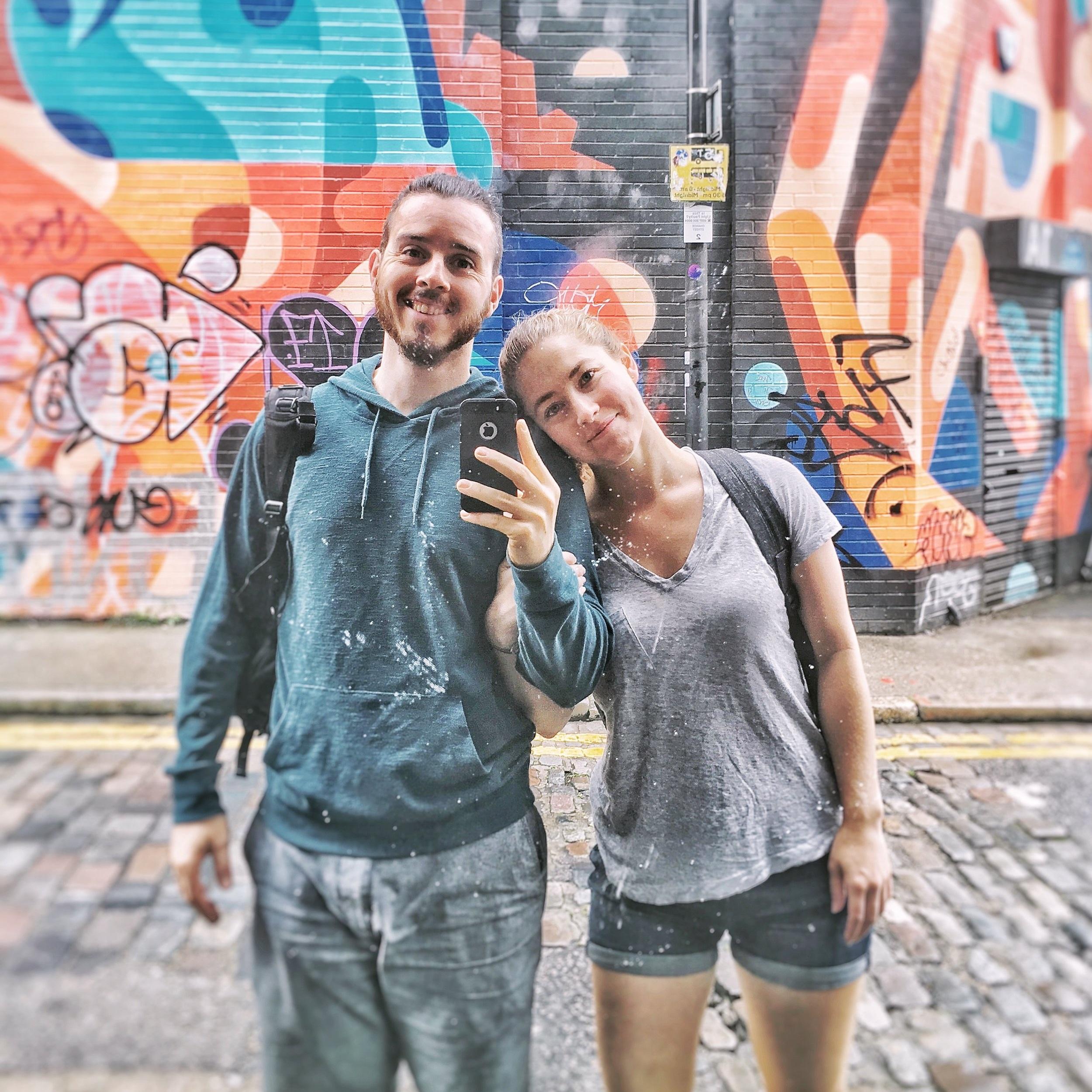 Robert and Sara in London, 2017