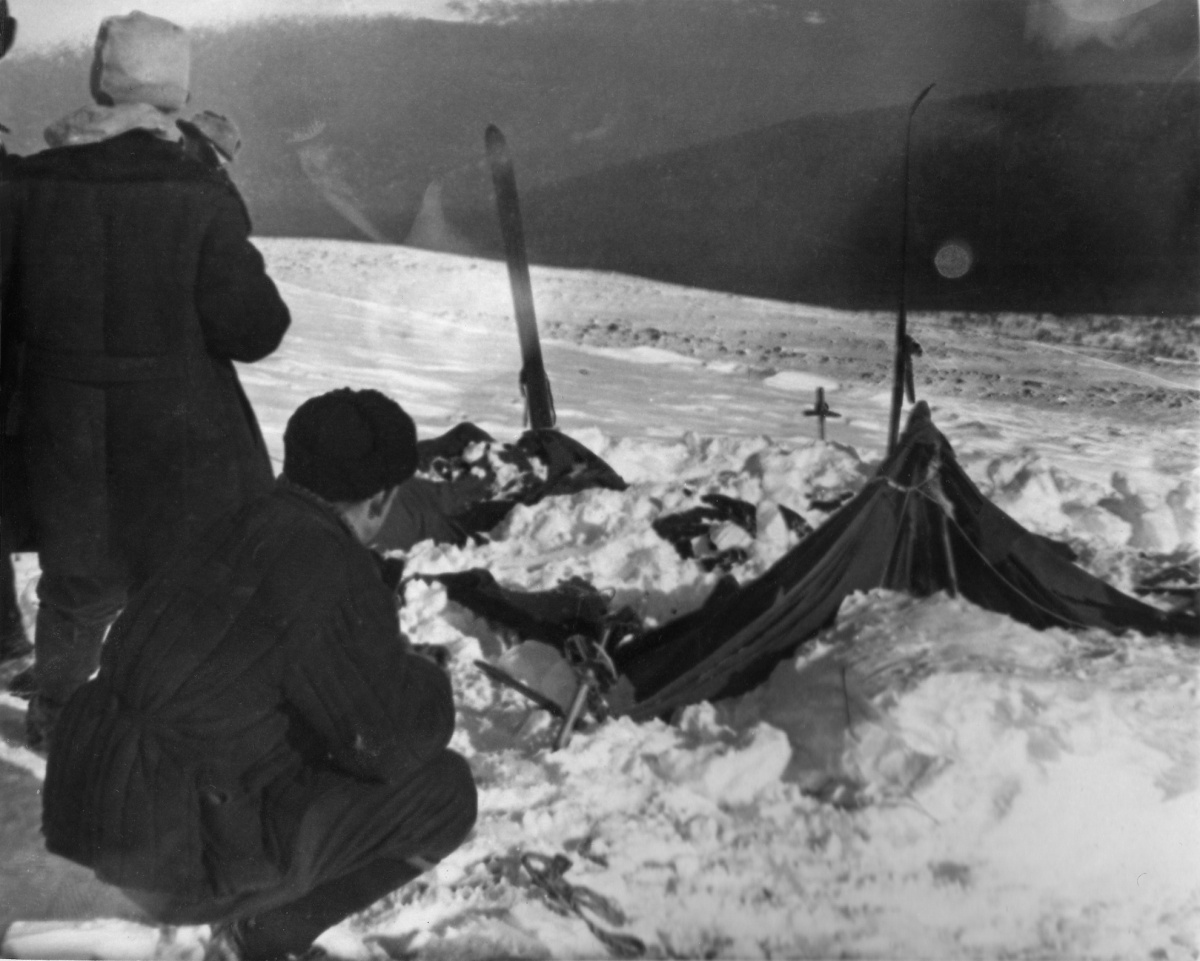 Dyatlov Group Campsite; Photo taken by Soviet authorities.