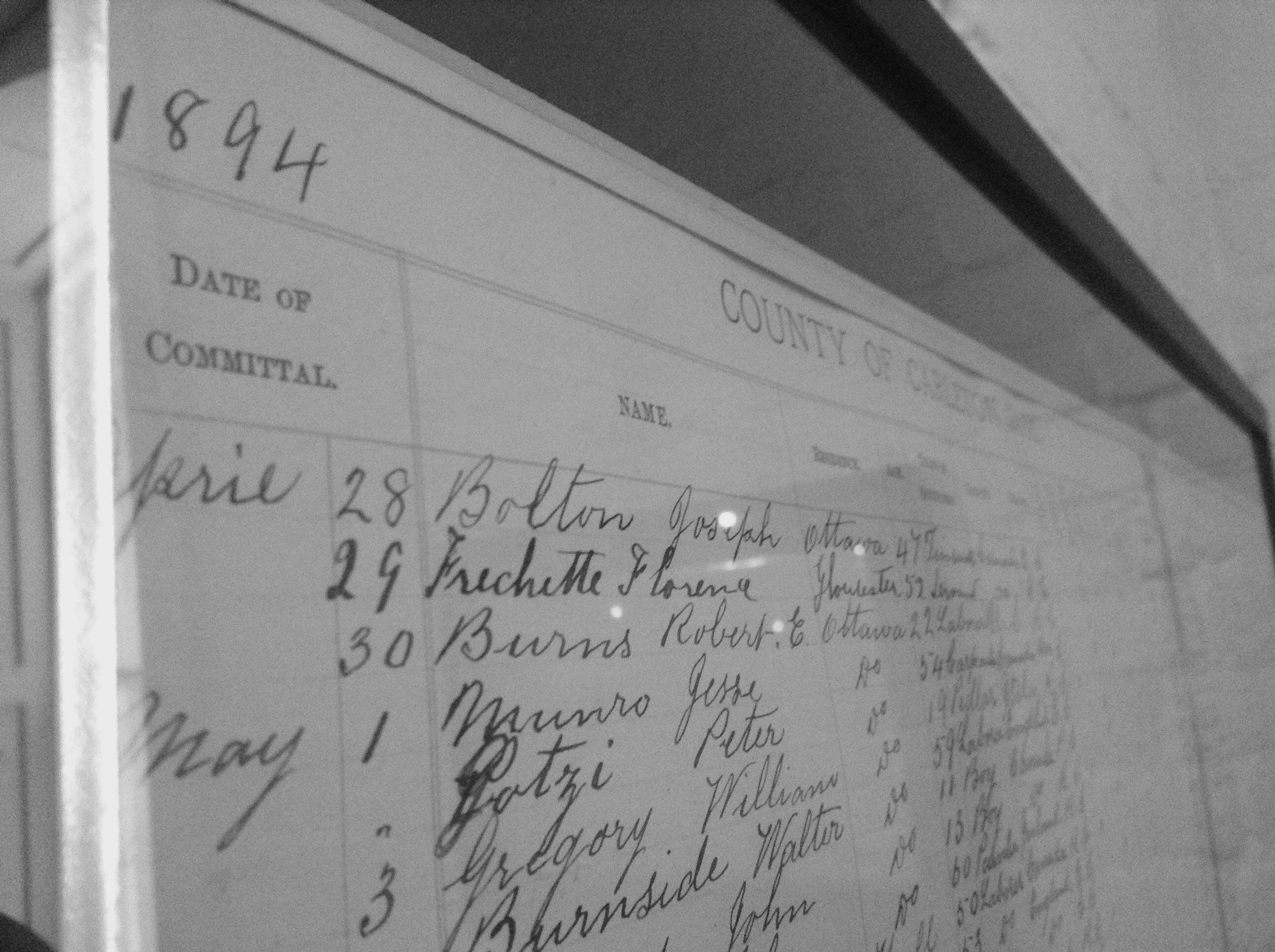 1894 Gaol record.