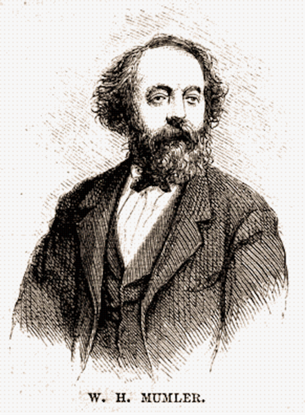 Engraving of Mumler published in Harper's Magazine, May 1869. Photo courtesy of Wikimedia Commons.