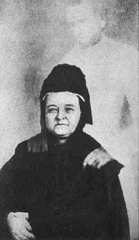 The photo taken of Mary Todd Lincoln, found on Wikimedia Commons.
