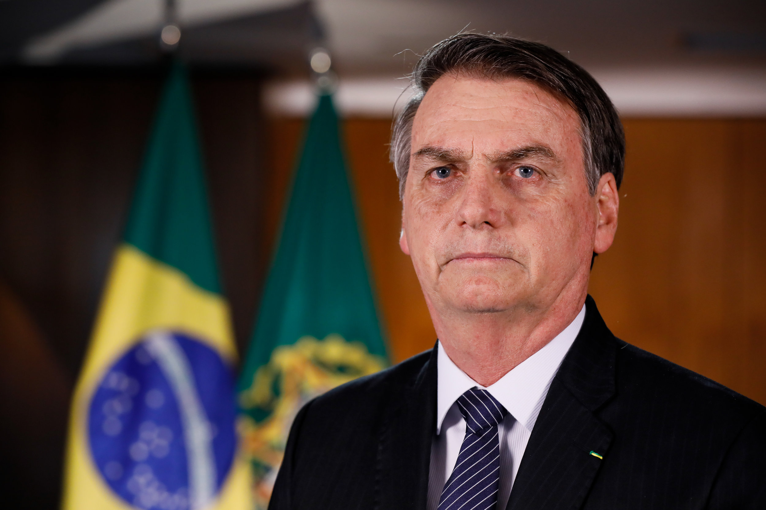 Jair Bolsonaro, Brazil's President; Photo courtesy of the Wikimedia Commons