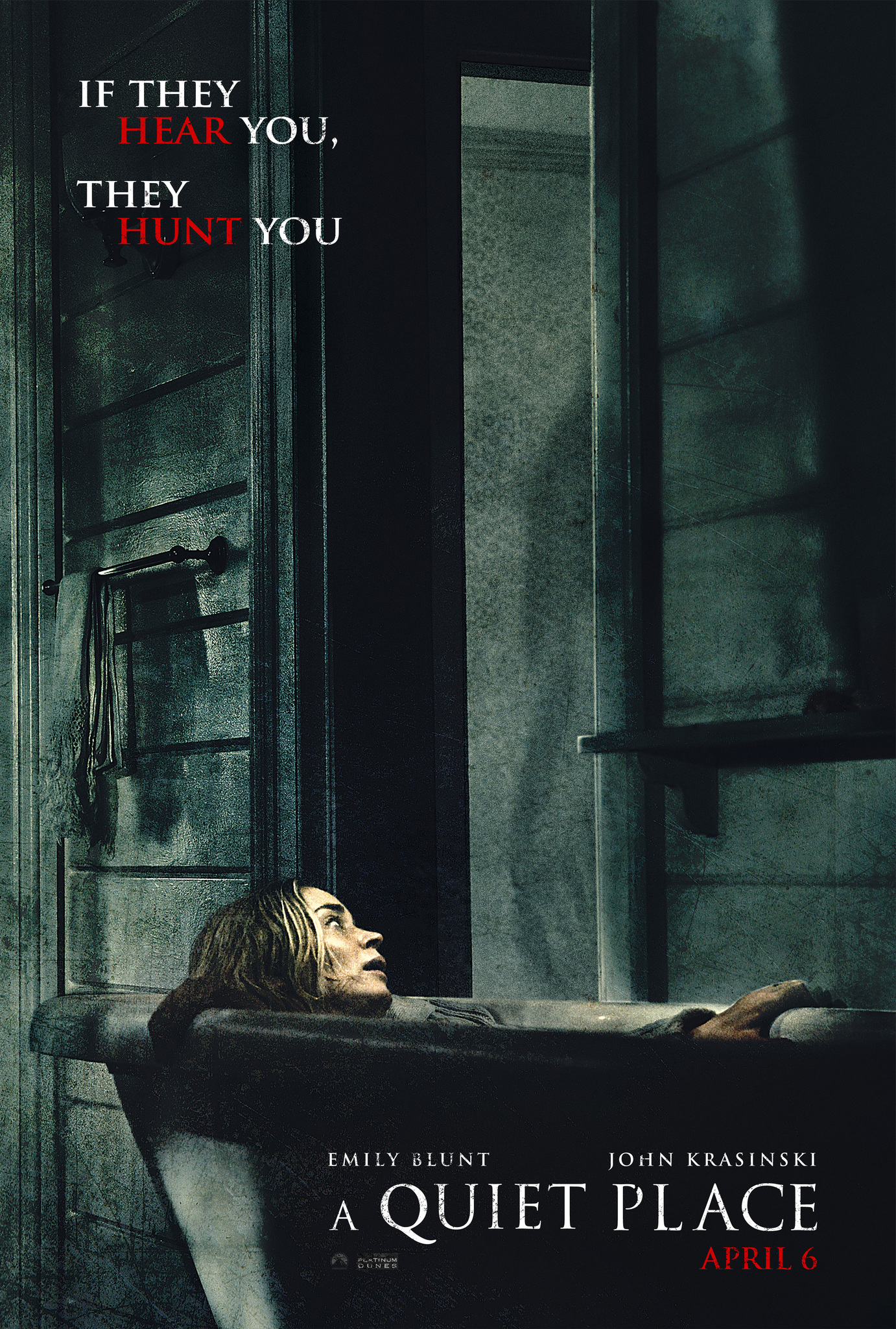 Movie poster for  A Quiet Place , retrieved from the IMDb page.