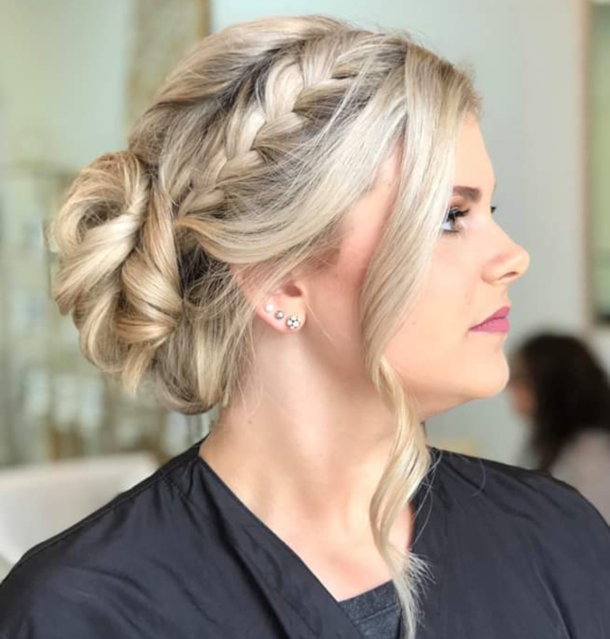 - 8. BRAIDED LADYFISHTAIL, FRENCH, DUTCH AND WATERFALL ARE ALL EXAMPLES OF BRAIDS THAT CAN BE INCORPORATED IN A BRIDAL LOOK....BRIDE: MARY CORINNE PATTERSONHAIR STYLIST: EMILY KLEIN SMITH