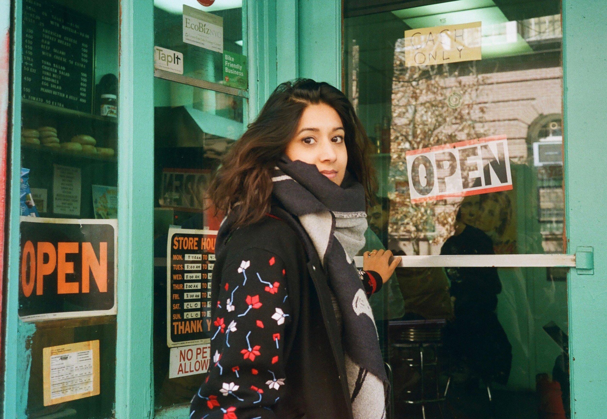 Sonejuhi, near her creative space in Lower Manhattan.