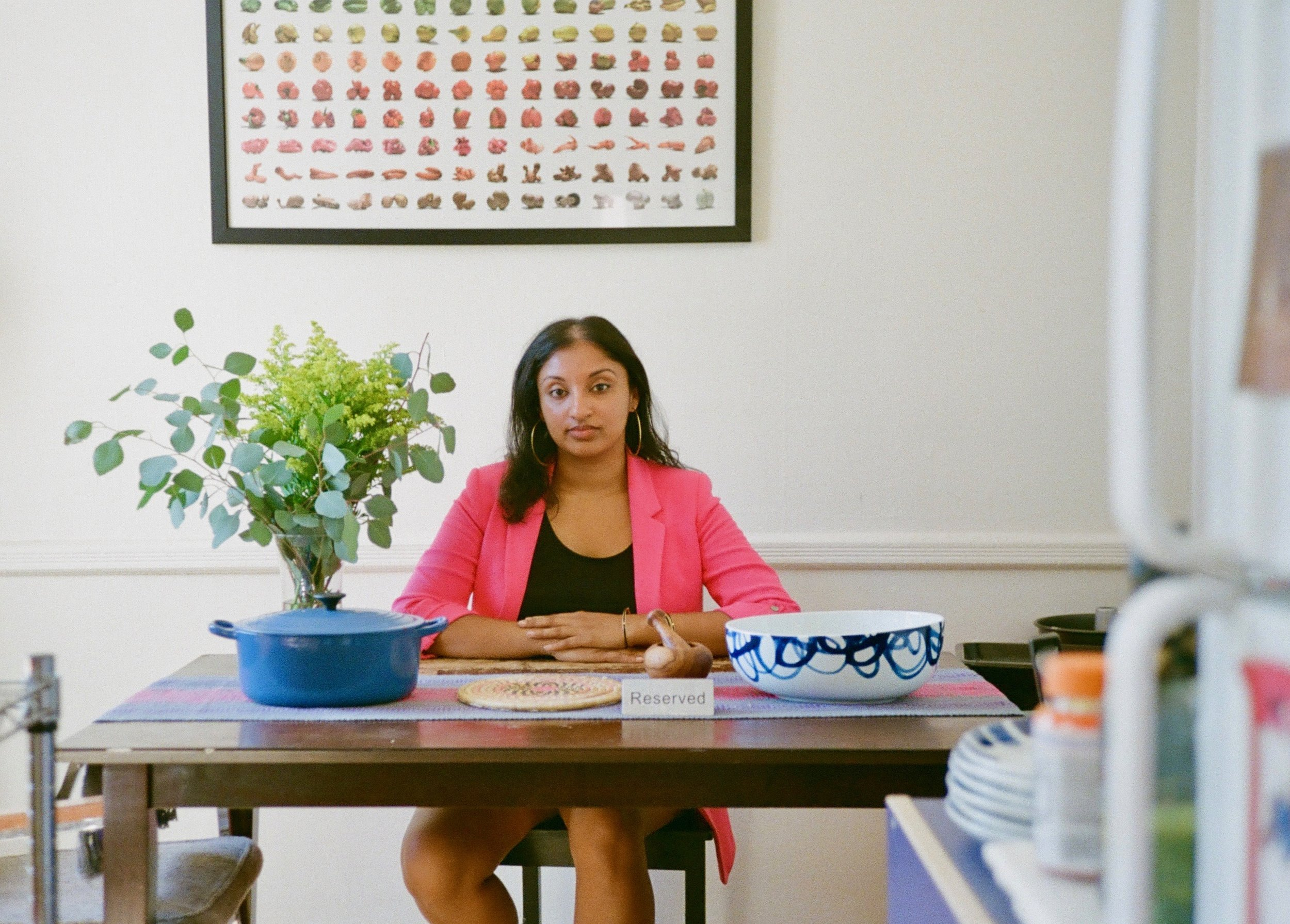 Kishori, in her kitchen, at her home in Flatbush, Brooklyn.