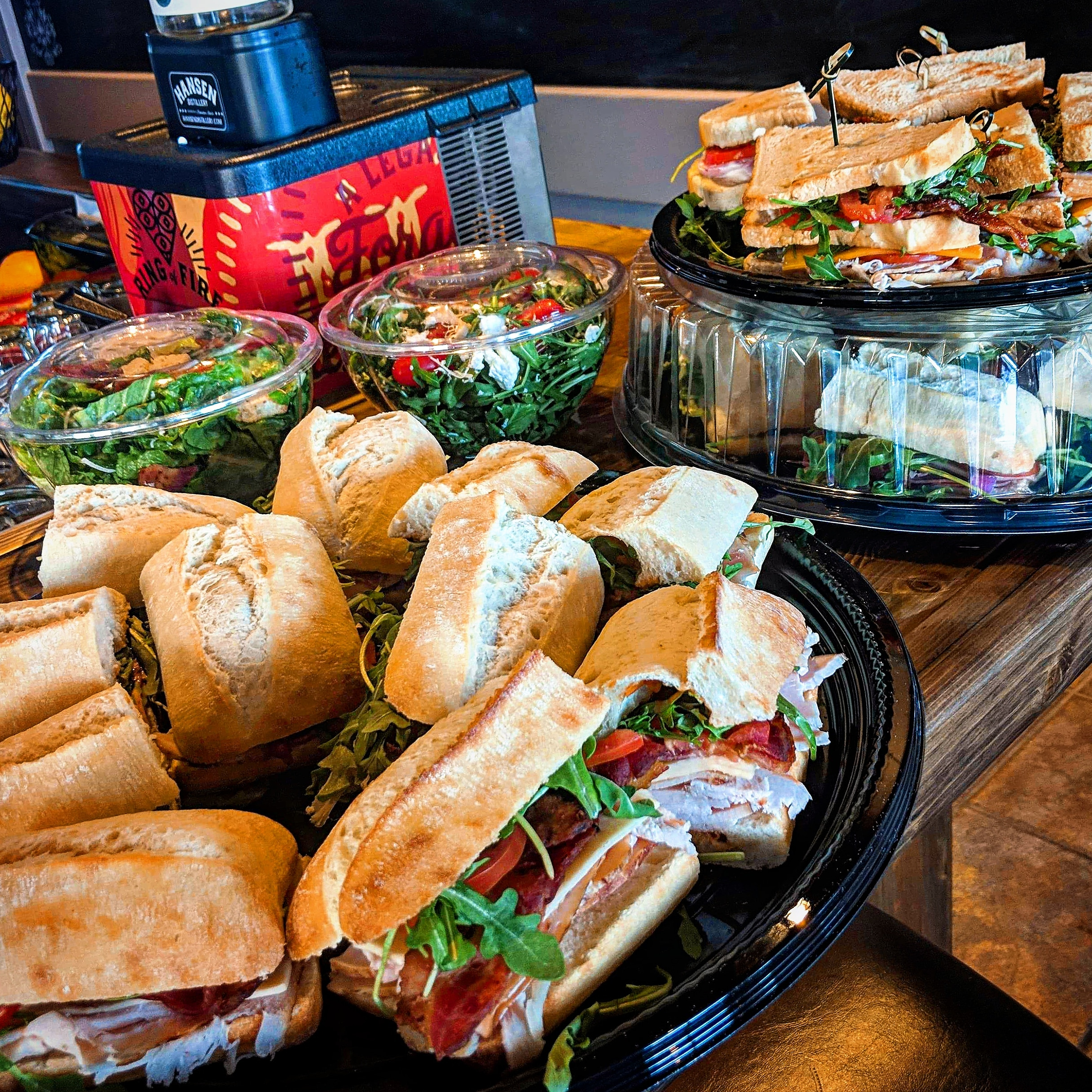 office lunch catering - We can provide your office with a gourmet sandwich platter, salads, soups, desserts and more!