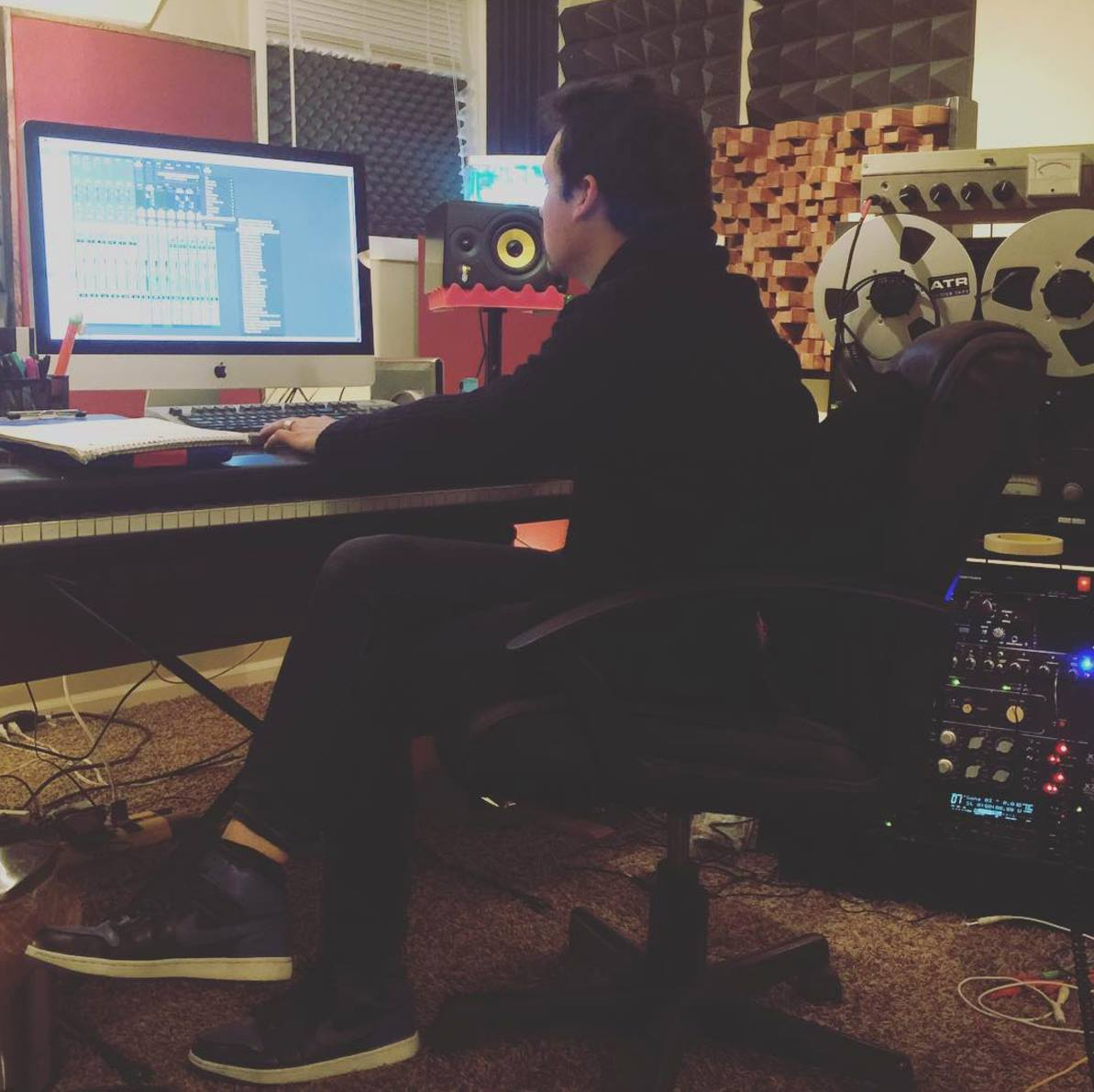 12.10.2015 Grace adjusting drums.