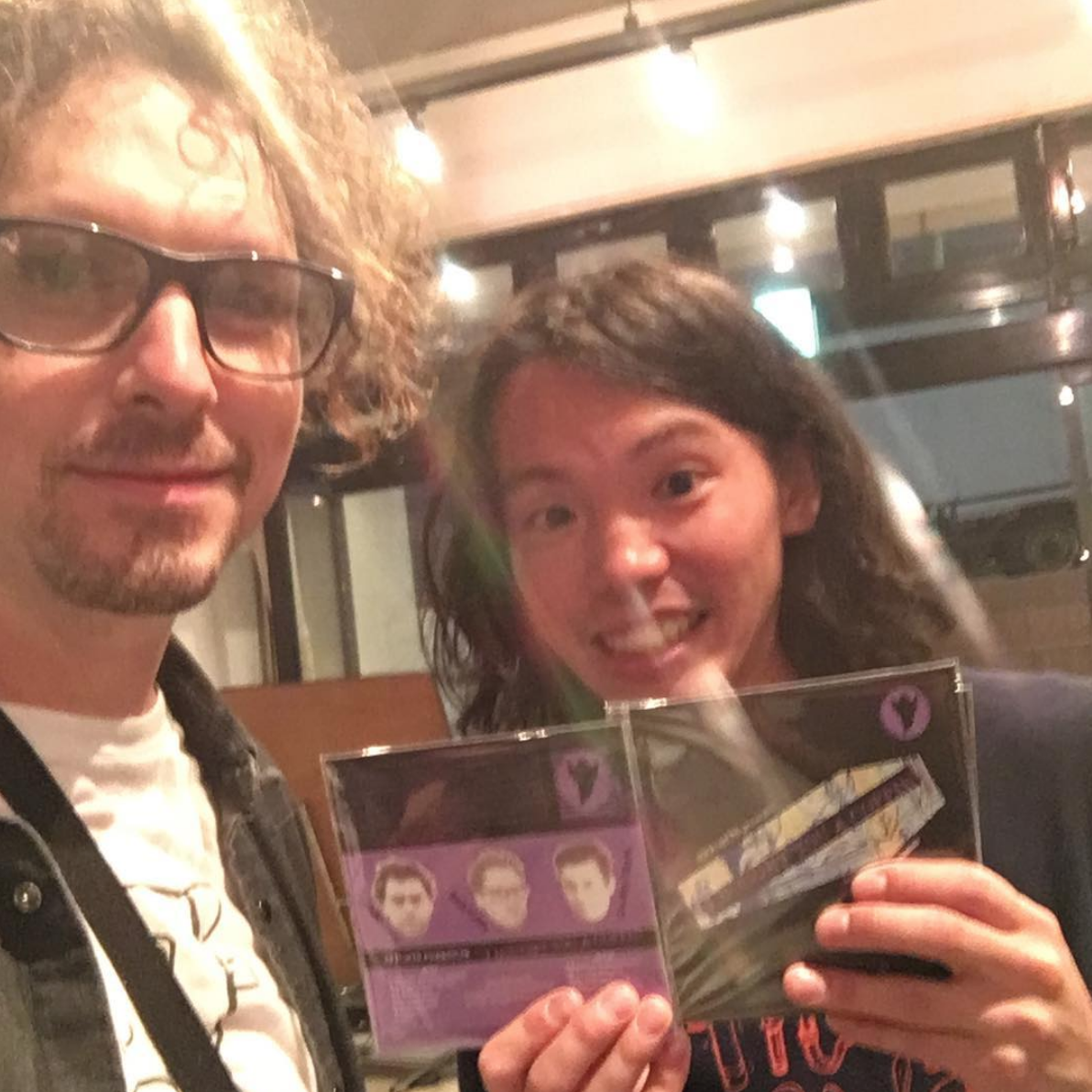 10.09.2018 Zach drops off a stack of CDs at Like A Fool Records in Tokyo.