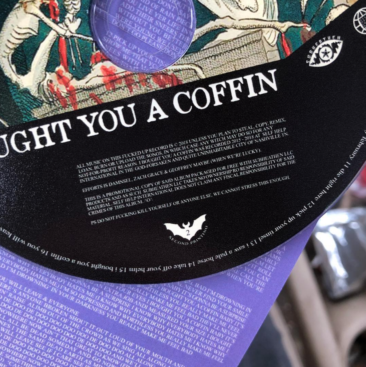 11.09.2018 second printing of IBYAC Promo CDs arrive. There's 300 of them in the world. I think.
