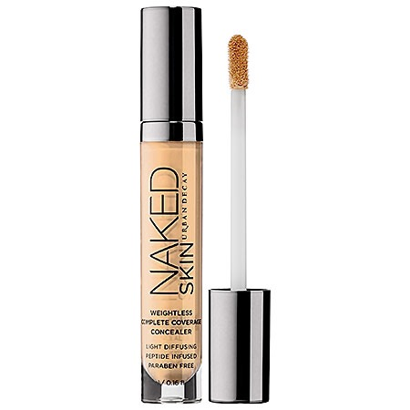 I'm completely obsessed with this concealer. Why? Because it is sooooo easy to apply especially when you're in a rush {story of my life} and trying to get out the door. I literally use the amazing applicator it comes with and lightly {you need a couple dots-it spreads great} and then use my 2 ring fingers to lightly blend it out from my eyes to nose. It's a beautiful blend!