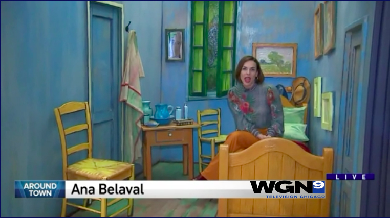 Watch us on WGN! - WGN's Ana Benaval visits the Van Gogh For All exhibit for the Morning News. To watch the segment, click here!