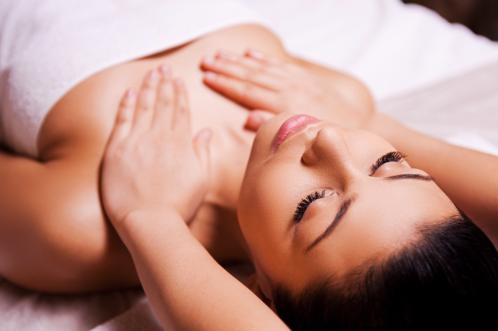 Reiki  aids in relaxation, assisting in the body's natural  healing  processes, and developing emotional, mental, and spiritual well-being. It may also induce deep relaxation, help people cope with difficulties, relieve emotional stress, and improve overall wellbeing.  A non-invasive healing touch, directing  Life Force  energy towards recipients ailments. Similar to acupuncture in addressing blockages of the bodies meridians in order to allow  Qi , life force energy to flow unobstructed through the body.  Chakras, like Meridians can become clouded and blocked by stagnant energy, lingering from trauma and emotional wounds. Once we begin to offer the body  Reiki , the flow of energy will allow for these past traumas to be cleared and healed.  On average, eight reiki sessions will be necessary to work through these traumas effectively. Yet, every session offers an incredible healing and soothing experience.  Ask about our  8-session package , for a substantial savings!