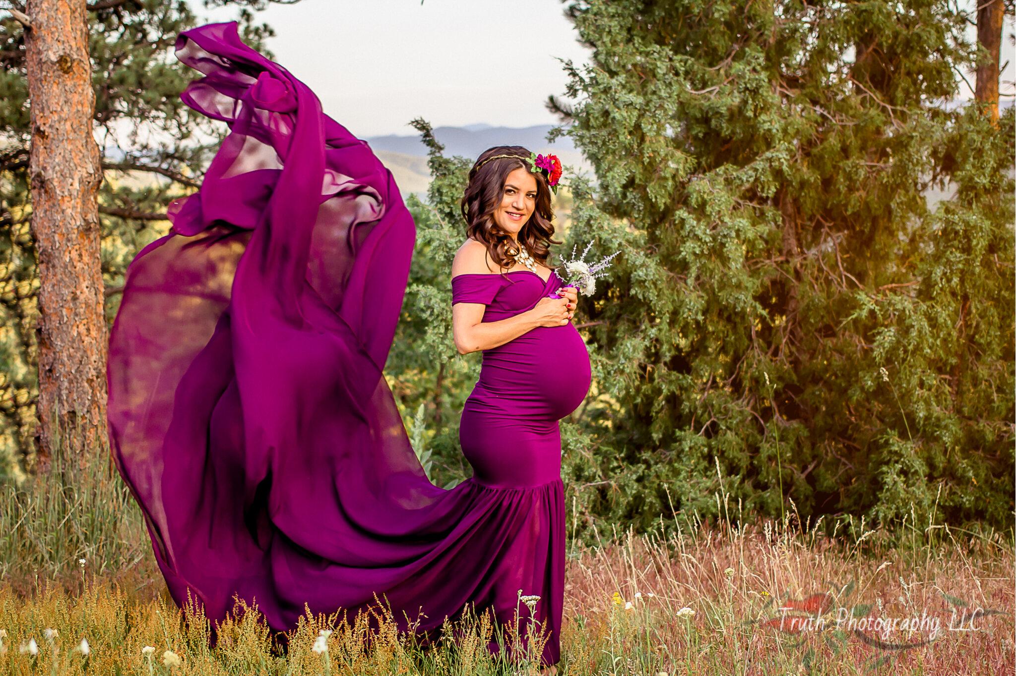 Mt. Falcon Evergreen Colorado Maternity session