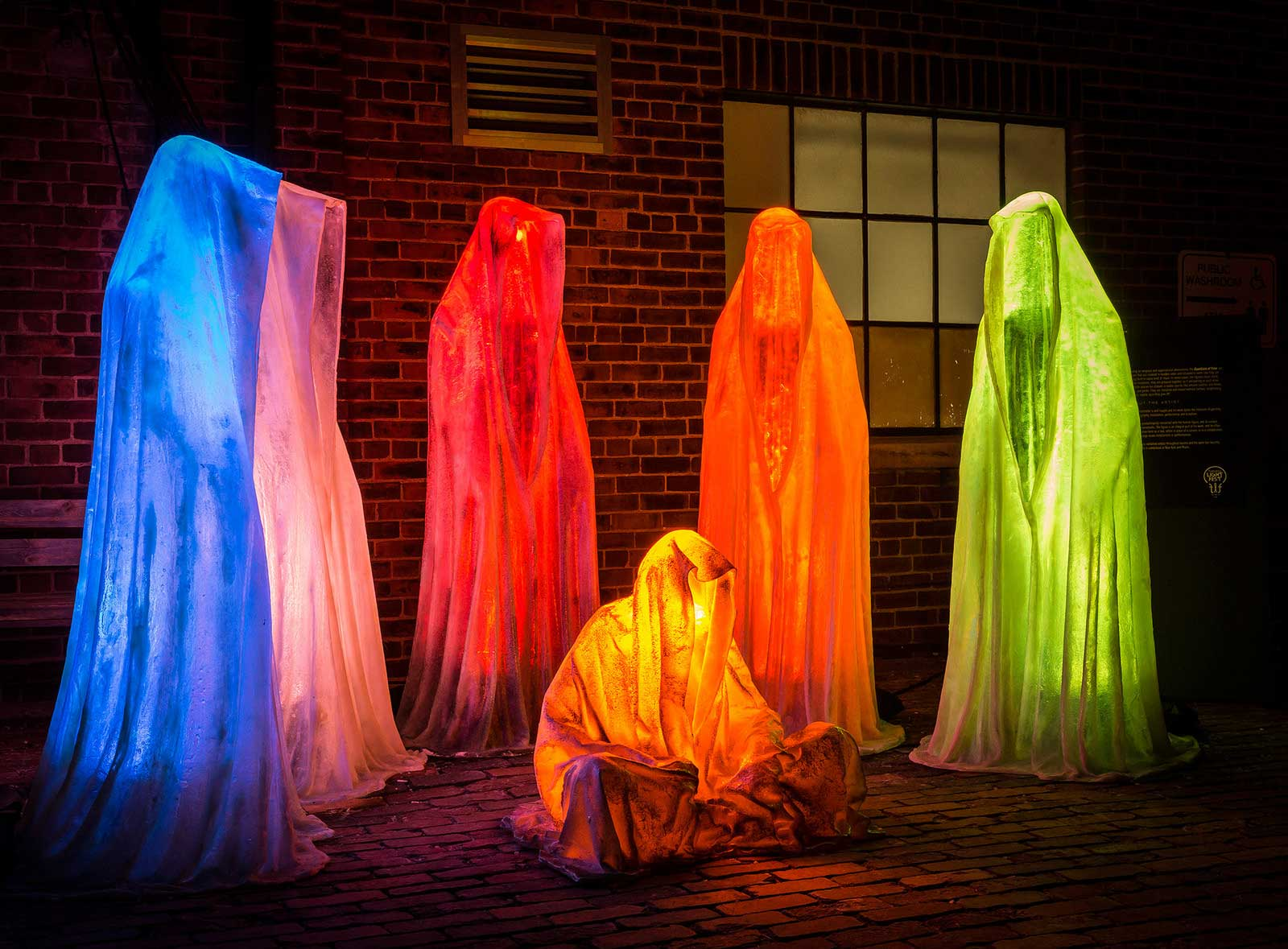 Toronto Light Fest, Guardians of Time, Manfred Kielnhofer. Photo:    kielnhofer.at