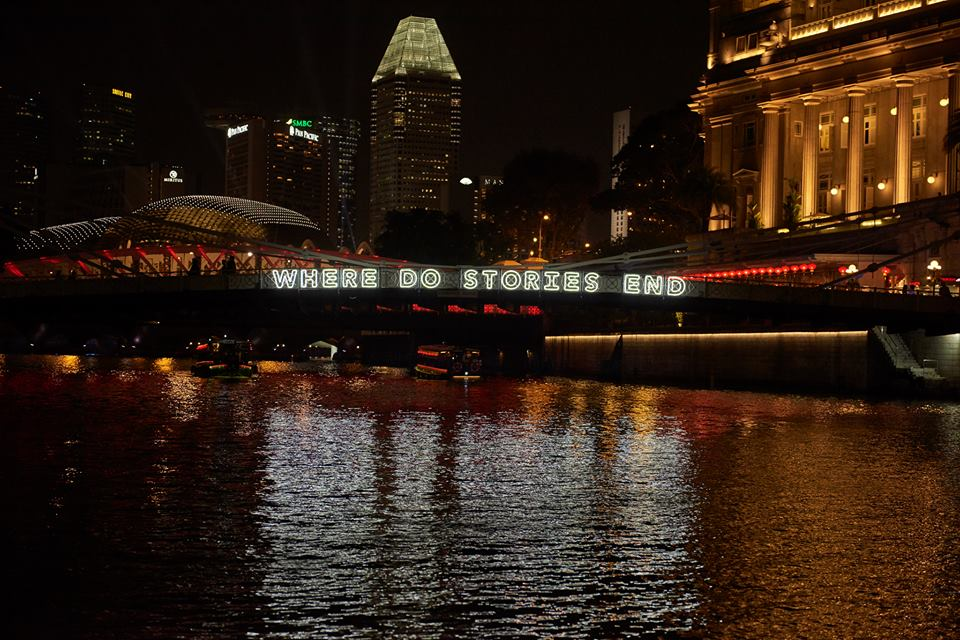 Where do stories begin / Where do stories end by    Michael Lee    and    Perception3   (Singapore)