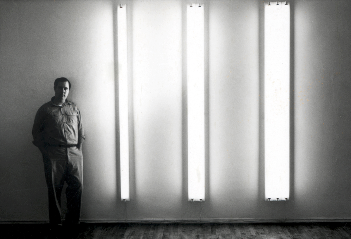 Dan Flavin 1963. - The nominal three (to William of Ockham),  Photo:  tmlarts.com