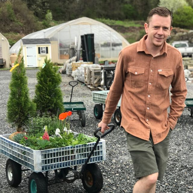 Spot the #ceo 👀@ventureonup getting stockpiled with greenery at Perreault Nursery and Landscape Supply 🌿🚜 #backyarddesign is what summer evenings are all about here at #sacredspacedesign 🐝🏞️ #DIY #lifestylegoals #garden #gardendesign #gardening #yard #homedesign #home #sacredspace