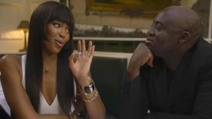 Naomi Campbell and Edward Enninful At The Beatrice