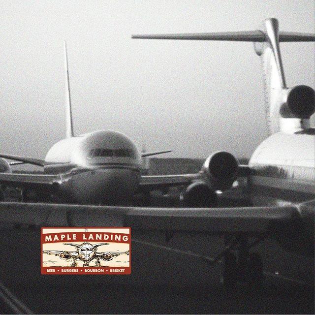 Delayed Flight? Grab some grub. #maplelanding #brisket #burgers #beer #bourbon #divebar #grabsomegrub #enjoythedelay