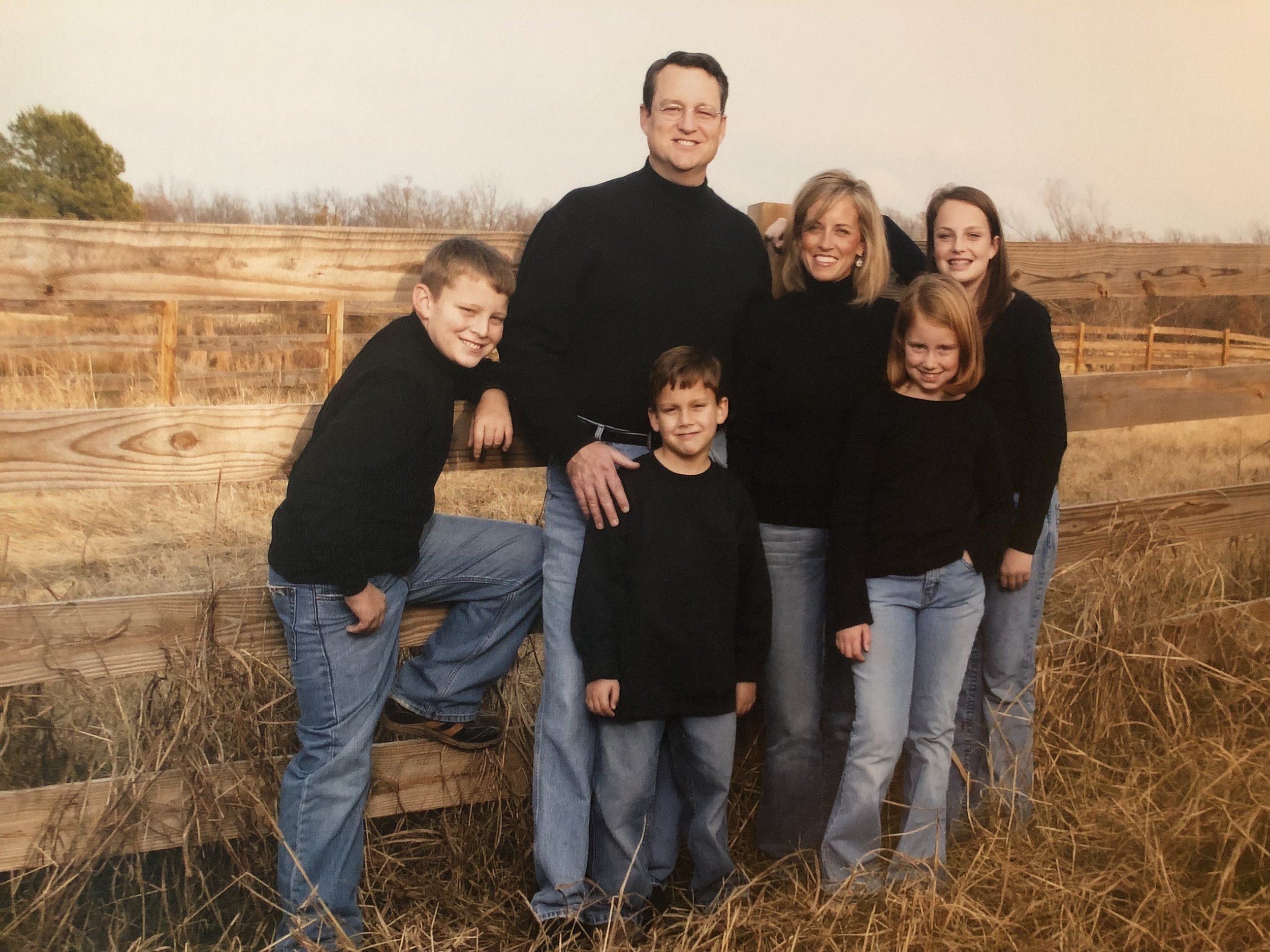 Our young family in the beginning years of our calling.