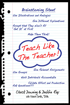 Something for a teacher of any age - This is a how-to book for teachers of any age and any content area. Short and direct in its presentation with examples galore, this resource will help professors, school teachers, homeschoolers, Sunday school teachers, and parents.Explore eight key strategies the Master Teacher used in his ministry on Earth.Ideas and examples fill this book to overflowing!See Projects for more information.
