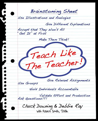 Something for a teacher of any age   This is a how-to book for teachers of any age and any content area. Short and direct in its presentation with examples galore, this resource will help professors, school teachers, homesSunday school teachers, and parents.  Explore eight key strategies the Master Teacher used in his ministry on Earth.   Ideas and examples fill this book to overflowing!    There is no link to this book yet.