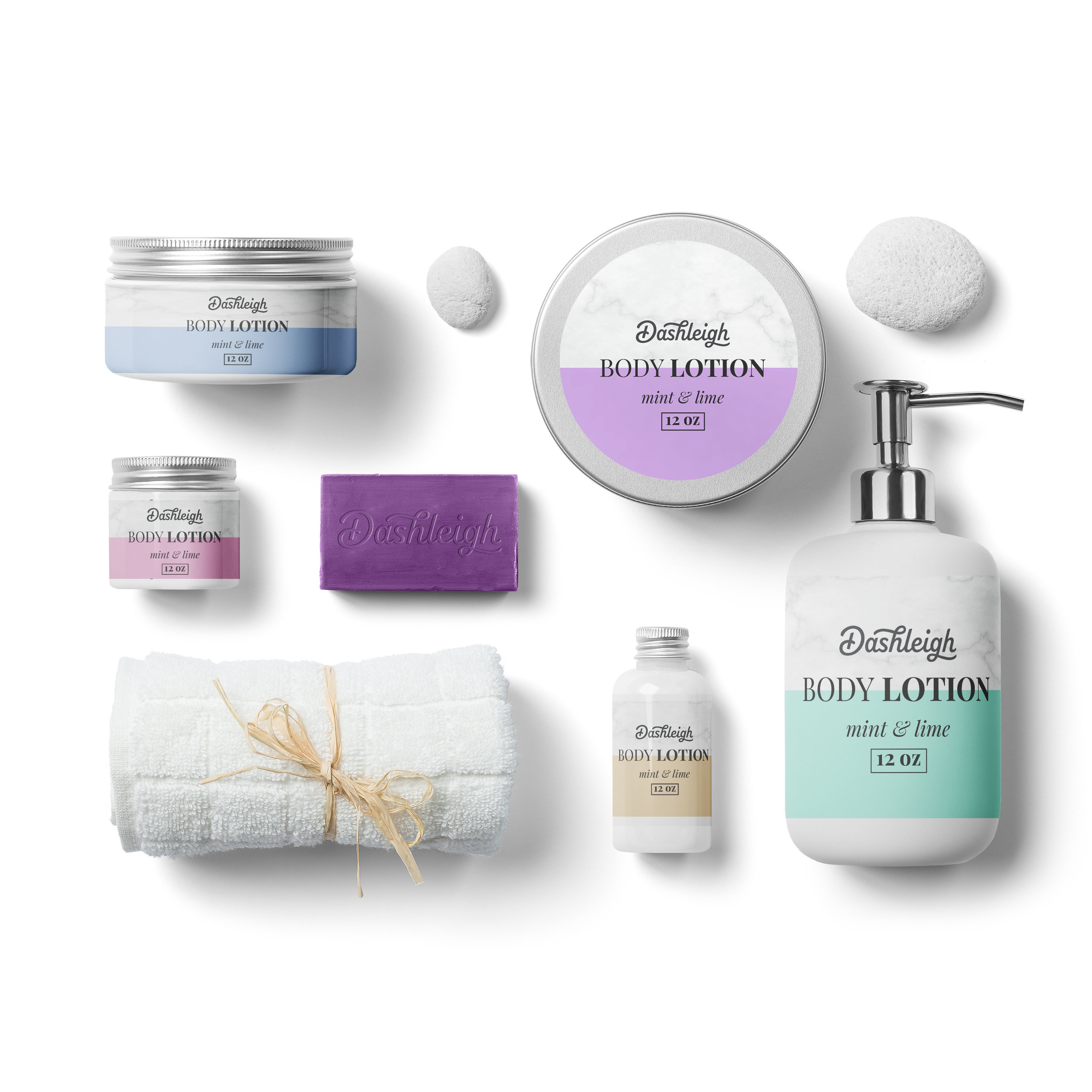 Marble & Pastels Cosmetic Labels