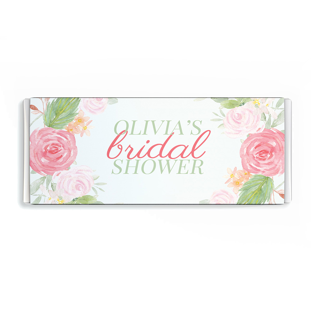 Blush Floral Chocolate Candy Bar Wrapper Image and Template Throughout Candy Bar Wrapper Template Microsoft Word