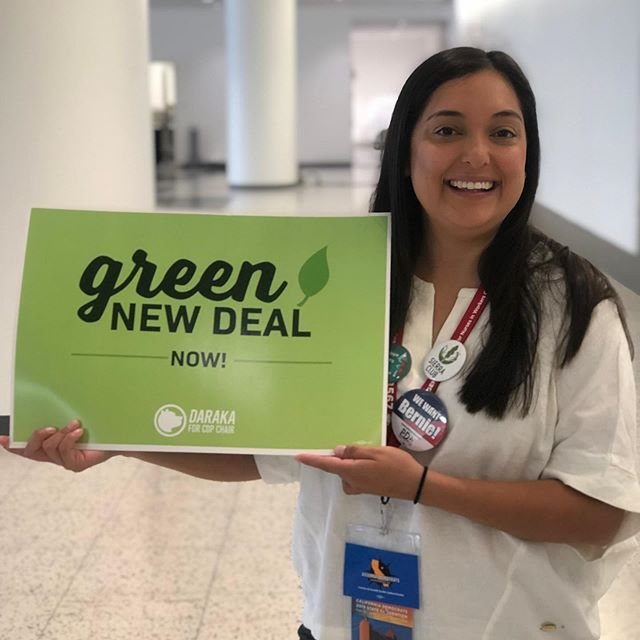 Progressive Values ✊ come pick up a sign in the lobby of Moscone Center North near the elevators! #greennewdeal #gnd #solidarityforever #1u