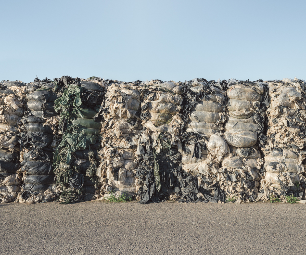 Baled Plastic, Santa Maria Landfill, CA.2014